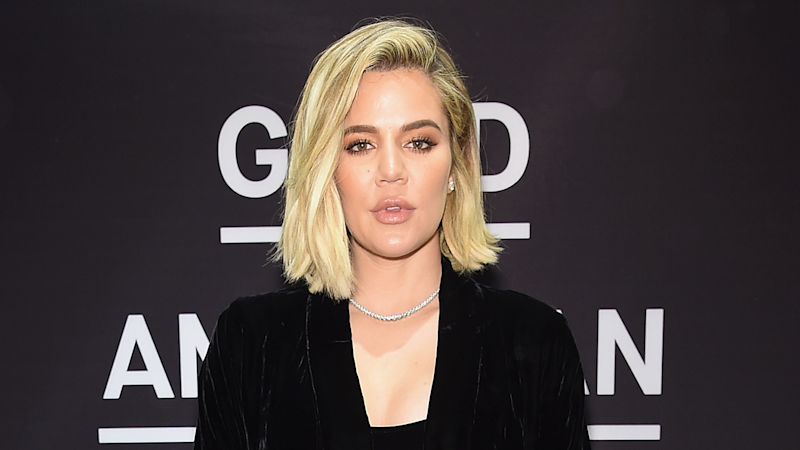 Khloe Kardashian Celebrates 6-Month Pregnancy Mark in Sexy Little Black Dress