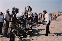 <p>Roger Moore films a scene as 007 for <em>For Your Eyes Only</em> in 1980.</p>