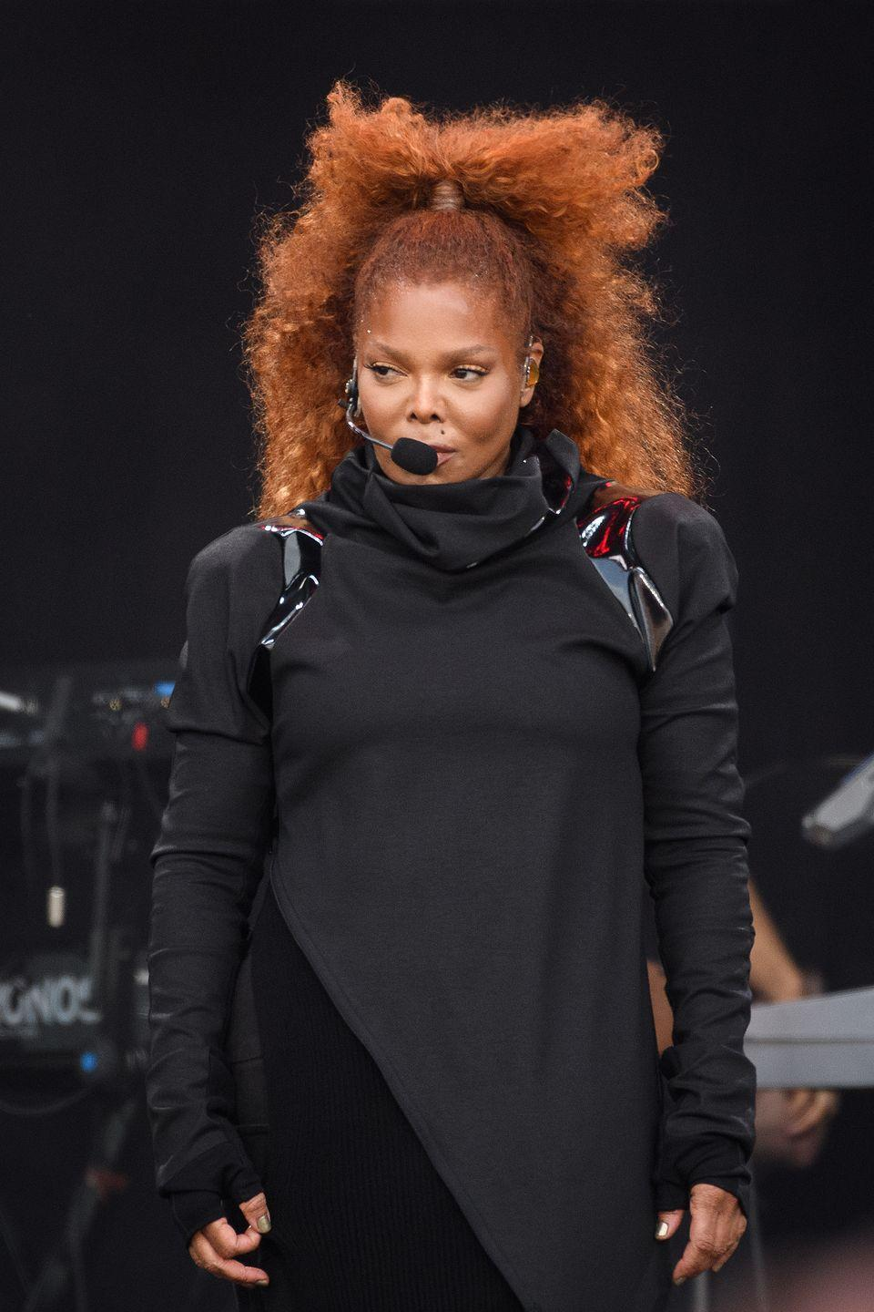 "<p>Fiery red hair definitely isn't for the faint at heart, but <strong>Janet Jackson</strong>'s vibrant scarlet hue left us speed-dialing our stylist. ""There are no style limits except the limits we put on ourselves,"" says Futrell. We couldn't agree more!</p>"