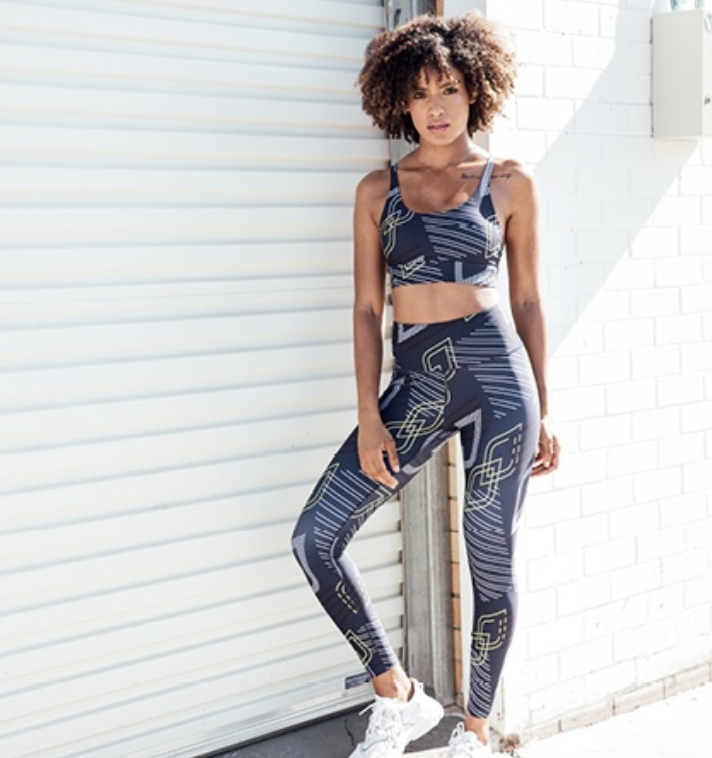 Pictured is one of the activewear sets from the chain's new line. Source: Lorna Jane