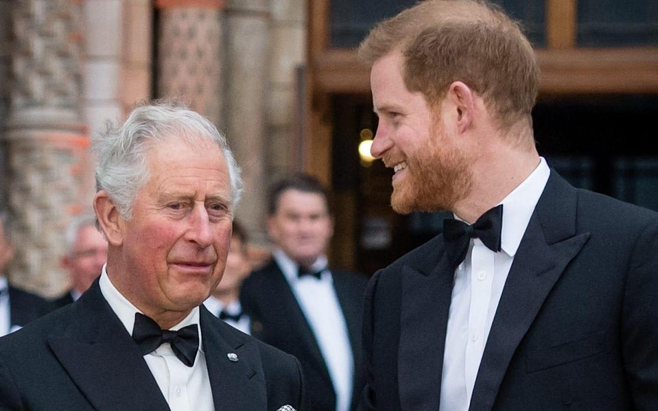 The Prince of Wales and Duke of Sussex in April 2019. The Prince appeared in the podcast to criticise his father's parenting - Samir Hussein/Getty Images