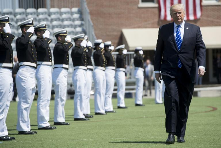 Trump complains about the media at Coast Guard Academy graduation