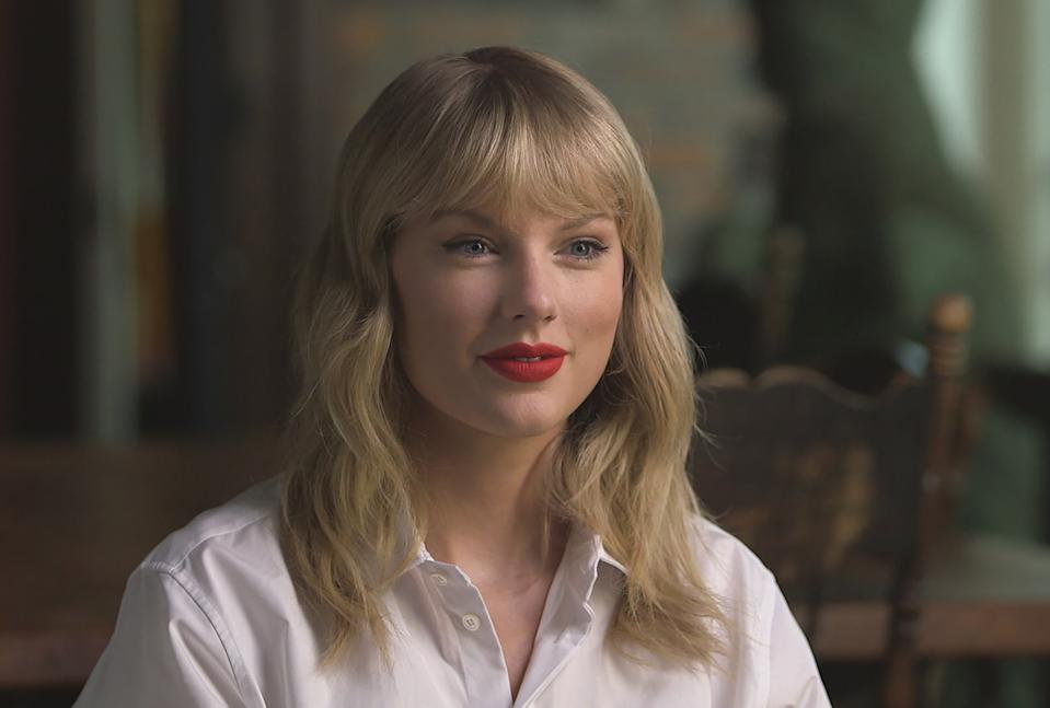 NEW YORK - AUGUST 22: Music superstar Taylor Swift (pictured) is interviewed by CBS News correspondent Tracy Smith in a segment on CBS SUNDAY MORNING. The interview is broadcast on Sunday, August 25, 2019 on the CBS Television Network. Image is a frame grab. (Photo by CBS via Getty Images)