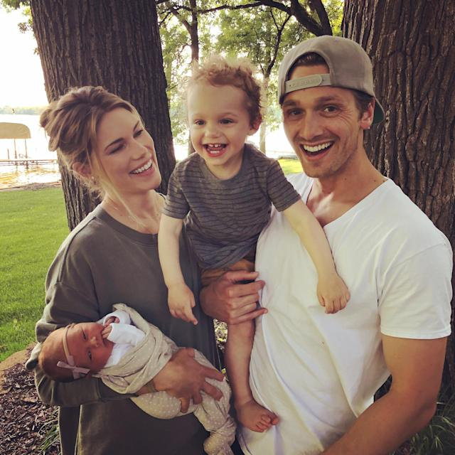 Marni and Derek's daughter Liv was born deaf, while their son Lou has healthy hearing. (Supplied)