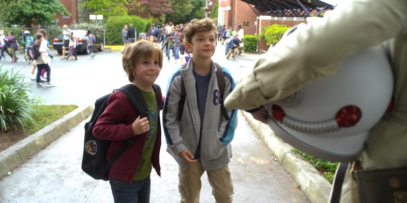 "Jacob Tremblay as Auggie, left, and Noah Jupe as Jack Will in ""Wonder."""