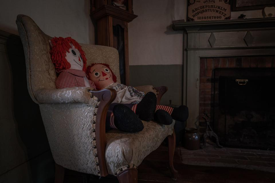 Inside the Rhode Island home which inspired The Conjuring film series is pictured.