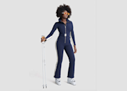 """Perfect for spring skiing and sunny days, this form-fitting one-piece by Cordova will make you feel like an Italian race car driver as you're zipping down the mountain. <em>Kill Bill</em> meets Aspen, it's a sporty look that's sophisticated enough to re-wear when dining outdoors. The flared pant leg fits over a ski boot, creating a flattering silhouette that feels like a throwback to another era, while a fleece lining keeps you warm and toasty. Still not warm enough? Add a <a href=""""https://cordova.co/collections/jackets/products/mont-blanc-rubberized?variant=31848819294281"""" rel=""""nofollow noopener"""" target=""""_blank"""" data-ylk=""""slk:cropped puffer coat"""" class=""""link rapid-noclick-resp"""">cropped puffer coat</a> on top for maximum coziness. $1090, Cordova. <a href=""""https://cordova.co/collections/ski-suits/products/the-cordova-over-the-boot?variant=30715538571337"""" rel=""""nofollow noopener"""" target=""""_blank"""" data-ylk=""""slk:Get it now!"""" class=""""link rapid-noclick-resp"""">Get it now!</a>"""