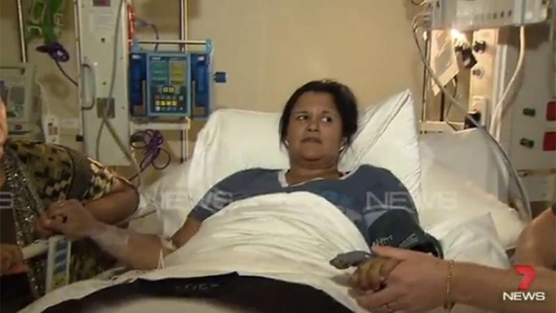 Pooja Newman was rushed to Royal Adelaide Hospital. Photo: 7 News.