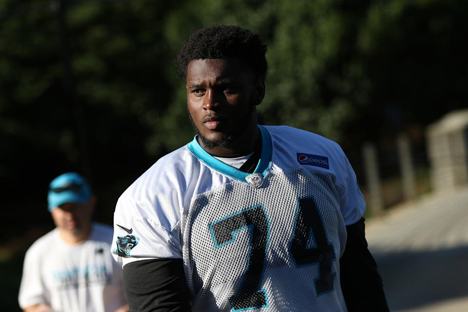 Kendrick Norton spoke publicly for the first time since a car crash cost him his arm on the same day police cited him for the accident. (Getty)