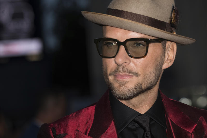 Musician Matt Goss of Bros poses for photographers upon arrival at the premiere of the film 'After The Screaming Stops' showing as part of the BFI London Film Festival in London, Wednesday, Oct. 17, 2018. (Photo by Vianney Le Caer/Invision/AP)