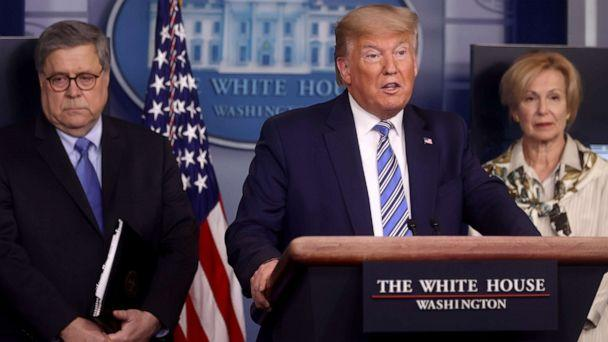 PHOTO: President Donald Trump addresses the coronavirus response daily briefing at the White House in Washington, March 23, 2020. (Jonathan Ernst/Reuters)