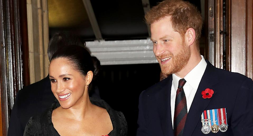 Meghan and Harry pictured at the annual Royal British Legion Festival of Remembrance at the Royal Albert Hall. [Photo: Getty]
