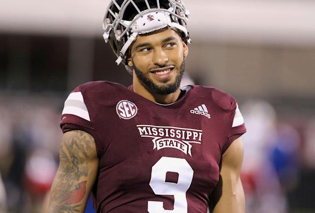 Mississippi State defensive end Montez Sweat had to be smiling after his 40 time at the NFL combine. (AP Photo/Jim Lytle)