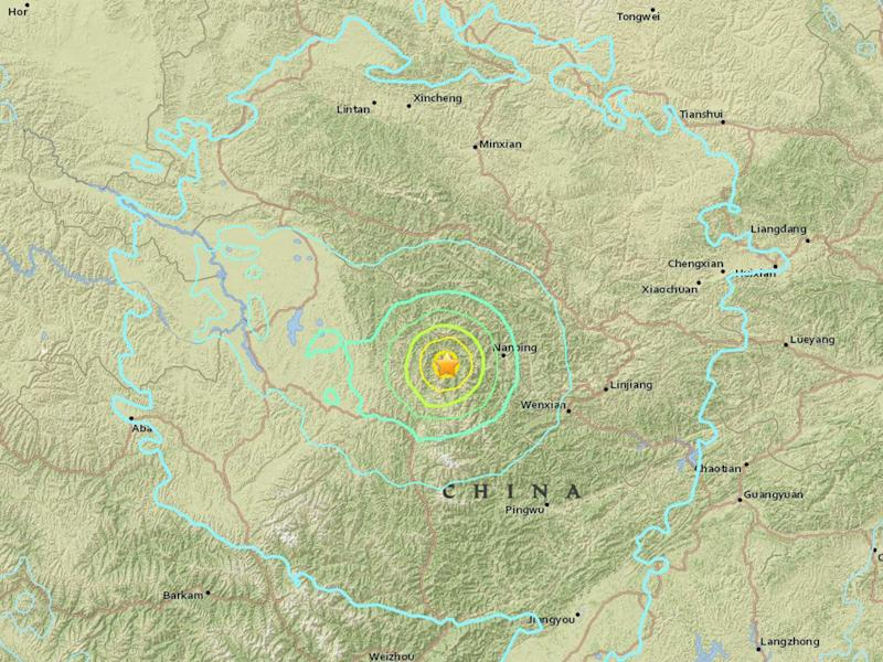 The quake struck 120 miles from the city of Guangyuan in Sichuan province, which is regularly hit by tremors: USGS