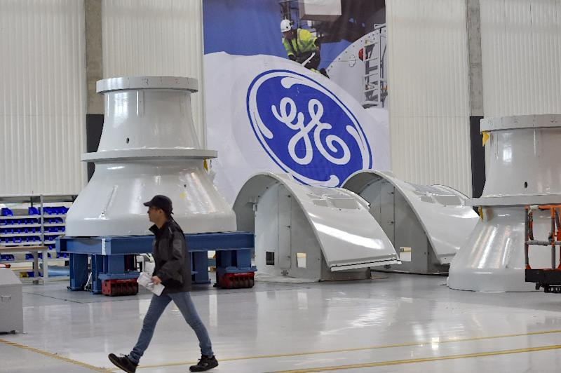 Restructuring GE's power division by breaking into two units is a key part of Culp's plan (AFP Photo/LOIC VENANCE)