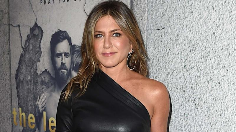 Jennifer Aniston Pampers Herself at Salon -- and Appears to be a Little Bit Blonder
