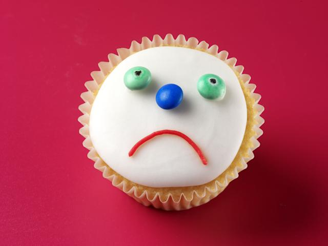 Unhappy Face CupcakeFood and Drink