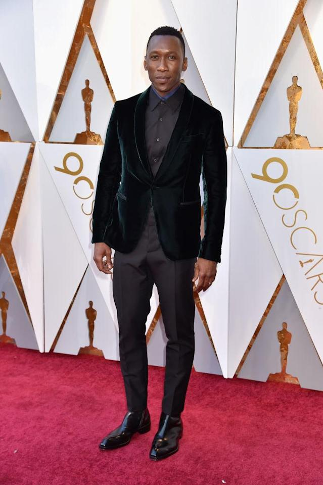 <p>Mahershala Ali attends the 90th Academy Awards in Hollywood, Calif., March 4, 2018. (Photo: Getty Images) </p>