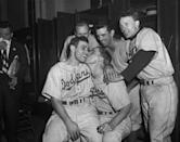 """<p><strong>October 3, 1947:</strong> Most of the 74,065 fans at Yankee Stadium were there to see the Bronx Bombers (who were at that point leading the Dodgers three games to two in the World Series) clinch another title. But a defensive replacement named Al Gionfriddo gets in the way: With Brooklyn leading, 8-5, in the bottom of the sixth inning and two runners on base, the Yankees' Joe DiMaggio smashes the first pitch he sees into the sky. Gionfriddo races toward the bullpen railing, loses his cap, turns, leaps, and makes the catch just to the left of the 415-foot marker in front of a low metal gate. Nearing second base, Joltin' Joe shakes his head and kicks the dirt in frustration as he gets robbed of a game-tying homer. """"It's one of the few times Dimaggio showed emotion on the baseball field,"""" says Harvey Frommer, author of <em>Remembering Fenway Park</em> and <em><a href=""""https://www.amazon.com/New-York-Yankee-Encyclopedia/dp/0028615115/?tag=syn-yahoo-20&ascsubtag=%5Bartid%7C10054.g.28170941%5Bsrc%7Cyahoo-us"""" rel=""""nofollow noopener"""" target=""""_blank"""" data-ylk=""""slk:The New York Yankee Encyclopedia"""" class=""""link rapid-noclick-resp"""">The New York Yankee Encyclopedia</a></em>.<br> </p>"""