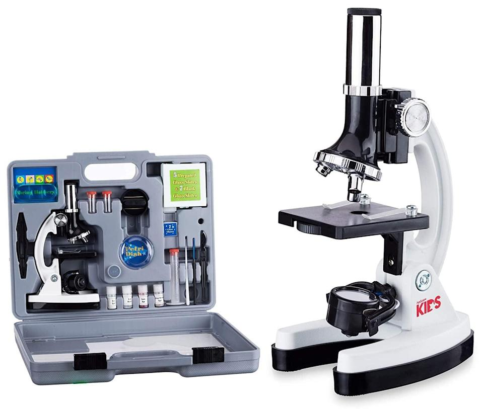 <p>This cool <span>AmScope 52-Pcs Kids Beginner Microscope STEM Kit</span> ($46, originally $55) will keep them busy for hours and is the perfect gift for a budding scientist.</p>