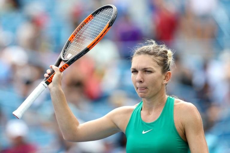 Romania's Simona Halep, pictured August 17, 2018, lost a title bid in Cincinnati in 2015 against Serena Williams and came up short in 2017 to Garbine Muguruza