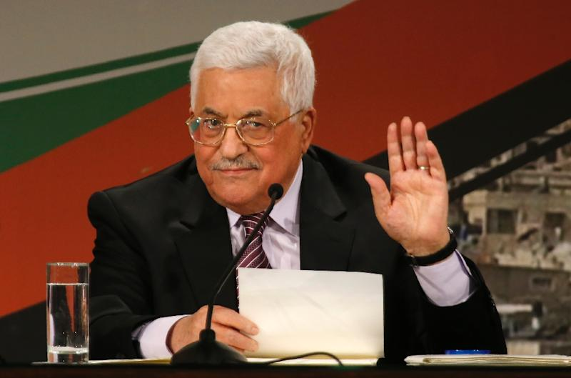 Palestinian president Mahmud Abbas, pictured in 2016, wants the Trump administration to work towards a two-state solution