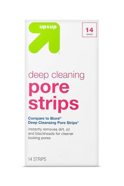 """<p>If """"economical"""" is your favorite word and you're really just here to pull shit out of your pores, these affordable, no-frills strips will get the job done — and leave your money in your bank account.</p><br><br><strong>up & up</strong> Pore Cleansing Strips, $5.59, available at <a href=""""https://www.target.com/p/pore-cleansing-strips-14-ct-up-up-153/-/A-14898727?ref=tgt_adv_XS000000&AFID=google_pla_df&CPNG=PLA_Health+Beauty+Shopping&adgroup=SC_Health+Beauty&LID=700000001170770pgs&network=g&device=c&location=1023191&gclid=EAIaIQobChMInfayjK2T1QIVg4-zCh3IkwKmEAkYCCABEgLQPfD_BwE&gclsrc=aw.ds"""" rel=""""nofollow noopener"""" target=""""_blank"""" data-ylk=""""slk:Target"""" class=""""link rapid-noclick-resp"""">Target</a>"""
