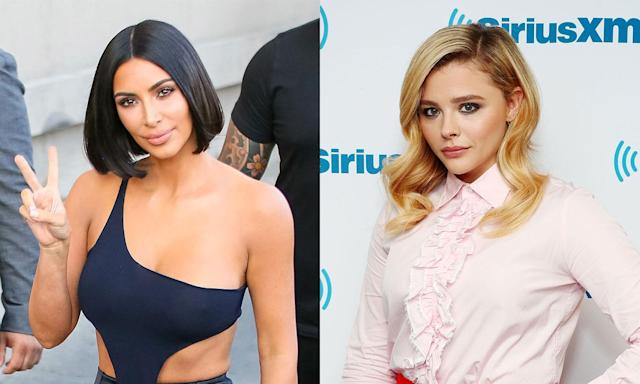 The feud between Kim Kardashian and Chloë Grace Moretz started in 2016 because of a tweet. (Photo: Getty Images)