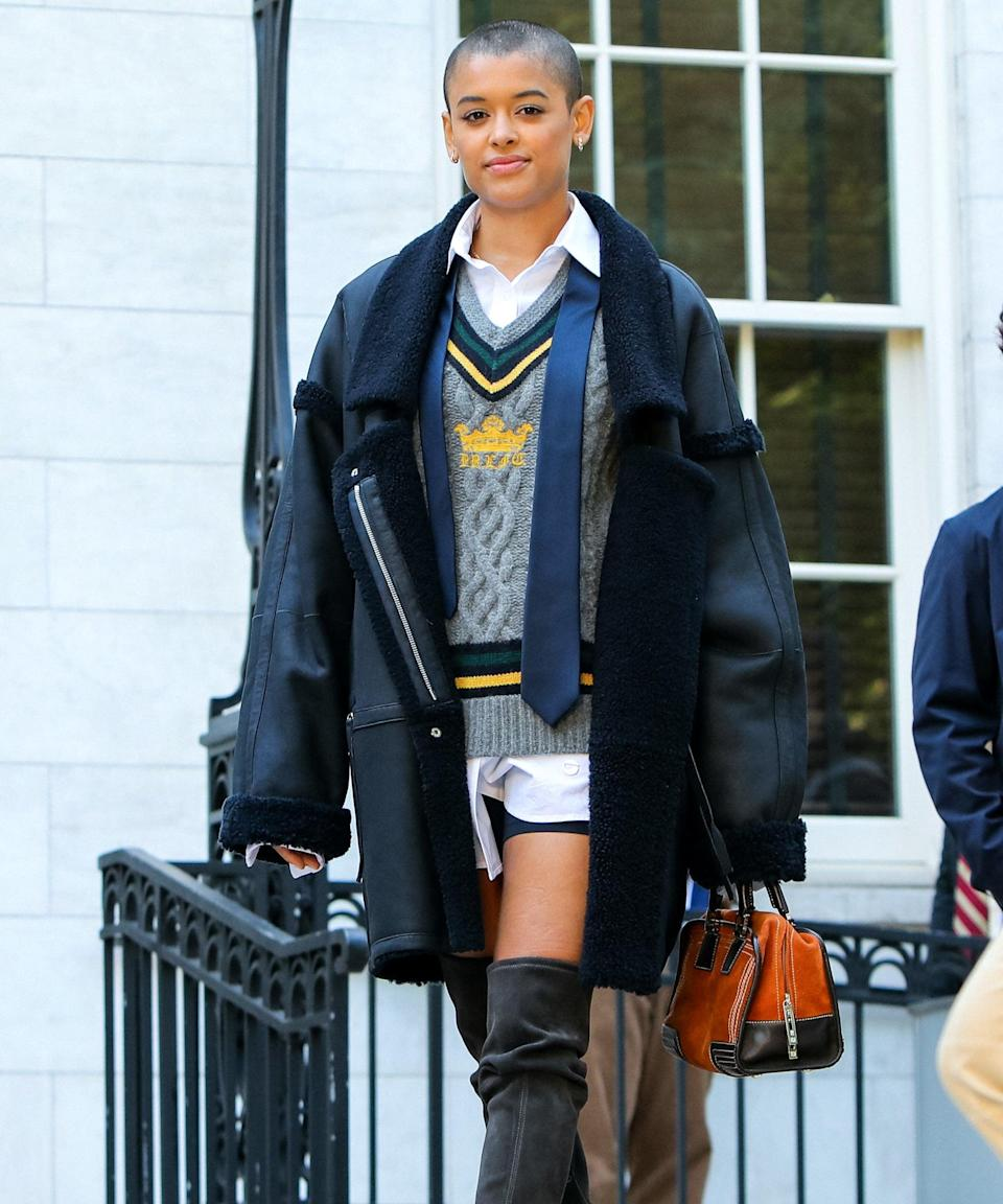 """<strong><em><h2>Gossip Girl 2.0</h2></em></strong>""""I'm excited for the reboot of <em>Gossip Girl</em> [out July 8]. I was absolutely obsessed with the original in middle school (I modeled my style after the fabulous Blair Waldorf), and this one looks absolutely perfect. It's a refreshing, diverse take on the original that I'm so excited to check out. The <a href=""""https://www.refinery29.com/en-us/2021/06/10518626/gossip-girl-trailer-christopher-john-rogers-runway-show"""" rel=""""nofollow noopener"""" target=""""_blank"""" data-ylk=""""slk:fashion looks incredible"""" class=""""link rapid-noclick-resp"""">fashion looks incredible</a>."""" —<em> Mercedes Viera, Associate Deals Writer</em><br><span class=""""copyright"""">Photo: Jose Perez/Bauer-Griffin/GC Images.</span>"""