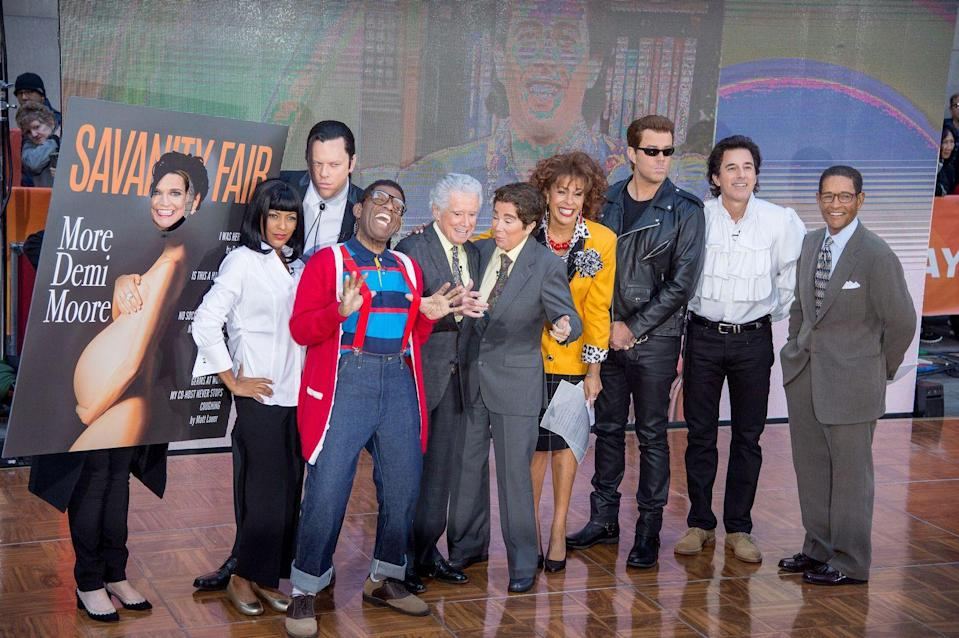 "<p>It was a full-on celebration of the decade that brought us slip dresses, <em>Forrest Gump</em>, and boy bands galore. From left to right, Savannah copied Demi Moore's legendary 1992 <em>Vanity Fair </em>(er, ""Savanity Fair"") cover, Tamon Hall and Willie Geist were Mia Wallace and Vincent Vega from <em><a href=""https://www.amazon.com/Pulp-Fiction-Blu-ray-John-Travolta/dp/B001AQT0Z4/ref=sr_1_1_sspa?keywords=Pulp+Fiction&qid=1569272348&s=gateway&sr=8-1-spons&psc=1&spLa=ZW5jcnlwdGVkUXVhbGlmaWVyPUEzT0I1NVZJRDg0VjQ2JmVuY3J5cHRlZElkPUEwNzg1MjUyMzVUVUdDVlBJTTlaTSZlbmNyeXB0ZWRBZElkPUEwNTQ1ODgxM0QzRktTSjQzS0tYSyZ3aWRnZXROYW1lPXNwX2F0ZiZhY3Rpb249Y2xpY2tSZWRpcmVjdCZkb05vdExvZ0NsaWNrPXRydWU%3D&tag=syn-yahoo-20&ascsubtag=%5Bartid%7C10055.g.29193412%5Bsrc%7Cyahoo-us"" rel=""nofollow noopener"" target=""_blank"" data-ylk=""slk:Pulp Fictio"" class=""link rapid-noclick-resp"">Pulp Fictio</a></em><em><a href=""https://www.amazon.com/Pulp-Fiction-Blu-ray-John-Travolta/dp/B001AQT0Z4/ref=sr_1_1_sspa?keywords=Pulp+Fiction&qid=1569272348&s=gateway&sr=8-1-spons&psc=1&spLa=ZW5jcnlwdGVkUXVhbGlmaWVyPUEzT0I1NVZJRDg0VjQ2JmVuY3J5cHRlZElkPUEwNzg1MjUyMzVUVUdDVlBJTTlaTSZlbmNyeXB0ZWRBZElkPUEwNTQ1ODgxM0QzRktTSjQzS0tYSyZ3aWRnZXROYW1lPXNwX2F0ZiZhY3Rpb249Y2xpY2tSZWRpcmVjdCZkb05vdExvZ0NsaWNrPXRydWU%3D&tag=syn-yahoo-20&ascsubtag=%5Bartid%7C10055.g.29193412%5Bsrc%7Cyahoo-us"" rel=""nofollow noopener"" target=""_blank"" data-ylk=""slk:n"" class=""link rapid-noclick-resp"">n</a></em>, and Al was the perfect Steve Urkel. For a meta twist, Kathie Lee dressed up as Regis, while Hoda dressed up as KLG pre-<em>Today</em>. And then there was Carson, who came as the Terminator.</p><p><strong>RELATED:</strong> <a href=""https://www.goodhousekeeping.com/holidays/halloween-ideas/g22074138/90s-halloween-costumes/"" rel=""nofollow noopener"" target=""_blank"" data-ylk=""slk:The Best '90s Halloween Costumes That You Haven't Seen"" class=""link rapid-noclick-resp"">The Best '90s Halloween Costumes That You Haven't Seen</a></p>"