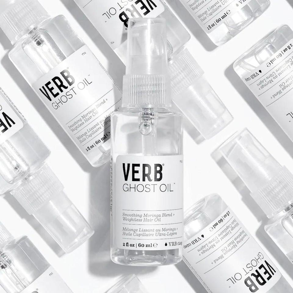<p>The <span>Verb Ghost Weightless Hair Oil</span> ($18) will give your hair a boost of shine while diminishing frizz. It hydrates and strengthens hair with ingredients like argan oil, moringa seed oil, and bamboo extract.</p>
