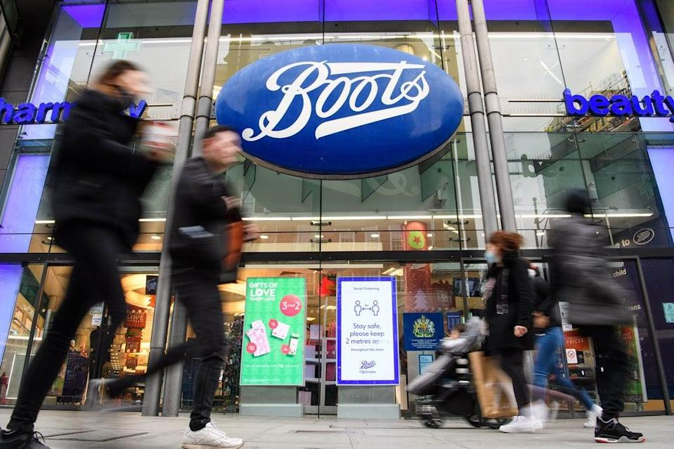 Sales through Boots' online business had doubled against pre-pandemic levels (Matt Crossick/PA) (PA Wire)