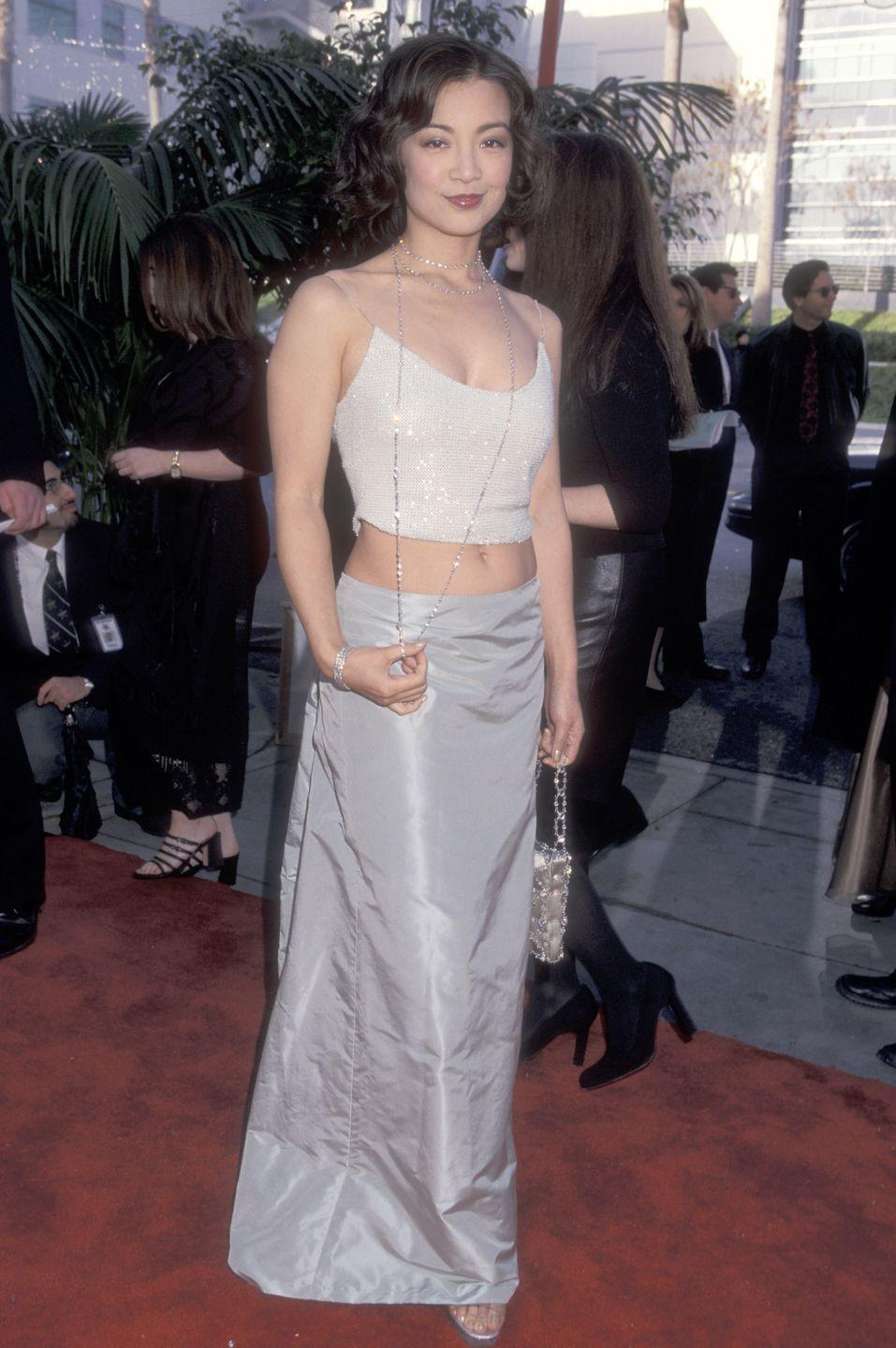 <p>Ming Na nailed a formal tonal look decades before it was trendy at the TV Guide Awards, but of course made sure to show off her midriff. </p>