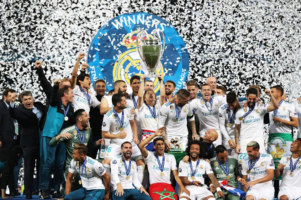 Luka Modric of Real Madrid and Croatia lifts the Champions League trophy. Now all eyes turn toward the 2018 World Cup. (Getty Images)