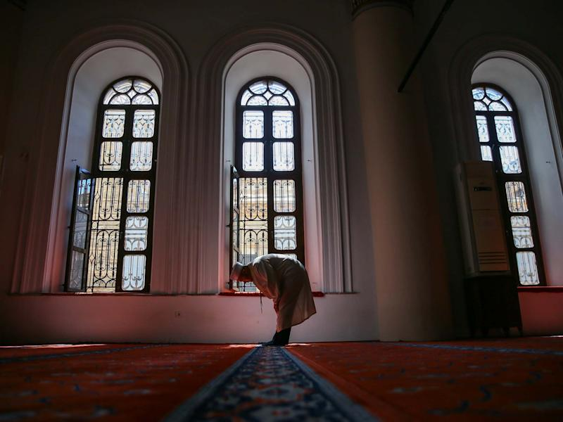 Mosques in Izmir will reopen their doors to worshippers for Friday prayer on May 29: Anadolu Agency via Getty Images