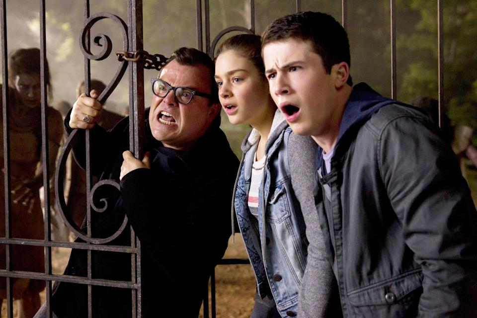 "<p>Jack Black plays a fictionalized version of R.L. Stine, the author of the famous <em>Goosebumps</em> series, in this 2015 movie. In it, the creatures from his creepy stories get unleashed on the world. Yikes. </p> <p><a href=""https://www.glamour.com/story/freeform-nights-of-halloween-schedule?mbid=synd_yahoo_rss"" rel=""nofollow noopener"" target=""_blank"" data-ylk=""slk:Available on Freeform's 31 Nights of Halloween"" class=""link rapid-noclick-resp""><em>Available on Freeform's 31 Nights of Halloween</em></a></p>"