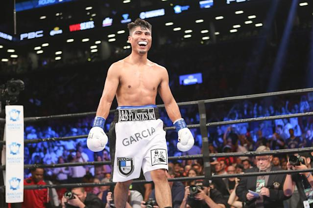 Mikey Garcia is the WBC lightweight champion with a 36-0 record and 30 knockouts. (AP Images)