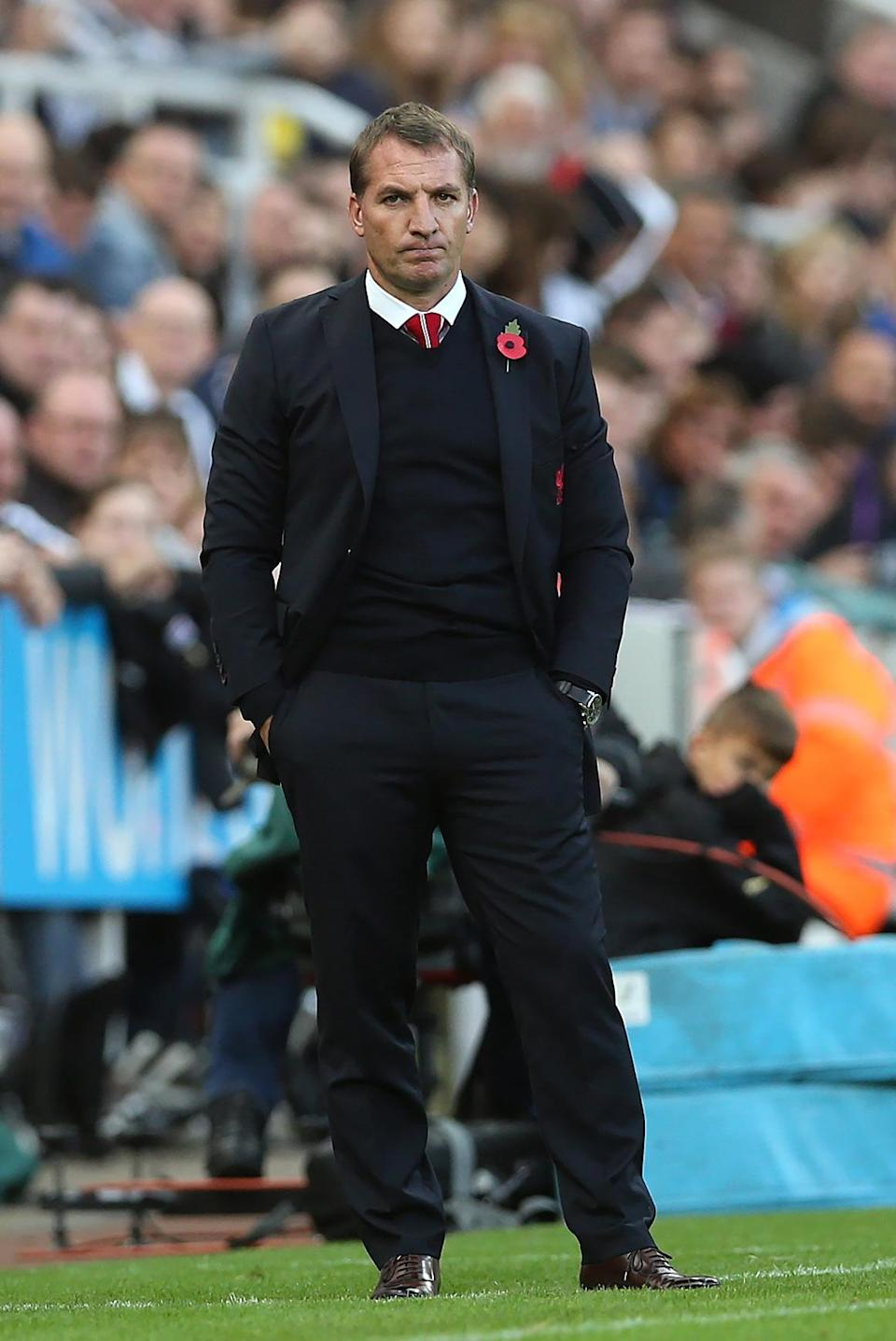 Liverpool''s manager Brendan Rodgers stands on the sidelines during their English Premier League match against Newcastle United, at St James' Park in Newcastle-upon-Tyne, northeast England, on November 1, 2014 (AFP Photo/Ian Macnicol, Ian Macnicol)