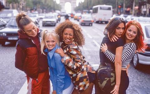 The Spice Girls in Paris in 1996 - Credit: getty