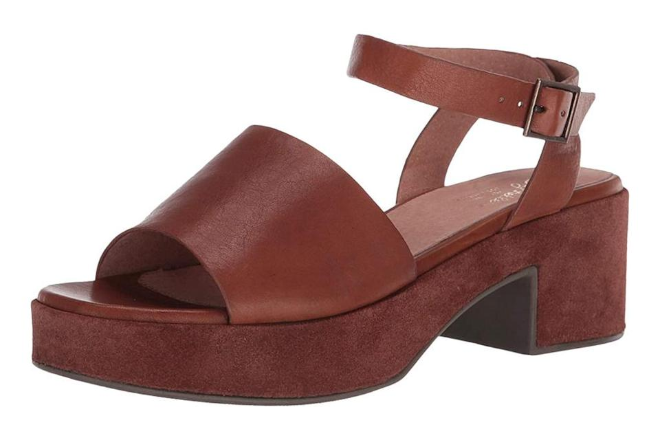 seychelles, sandals, brown, platform