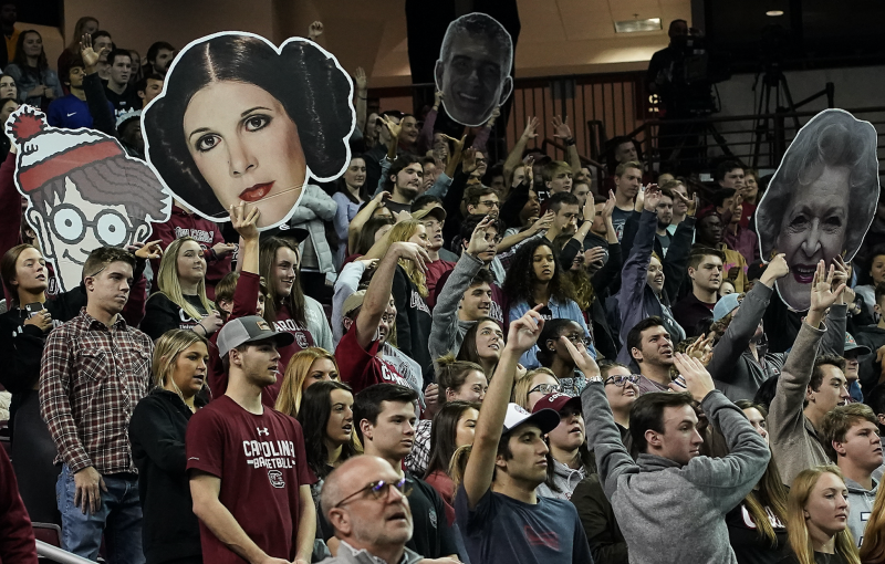 South Carolina Gamecocks fans cheer during the second half between the Gamecocks and the Tennessee Volunteers at Colonial Life Arena on Feb 15, 2020. (Photo: Kim Dedmon-USA TODAY Sports via Reuters)