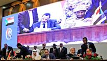 Sudan's powerful generals and key civil society factions signed a power-sharing deal in August 2019 (AFP/Ebrahim HAMID)