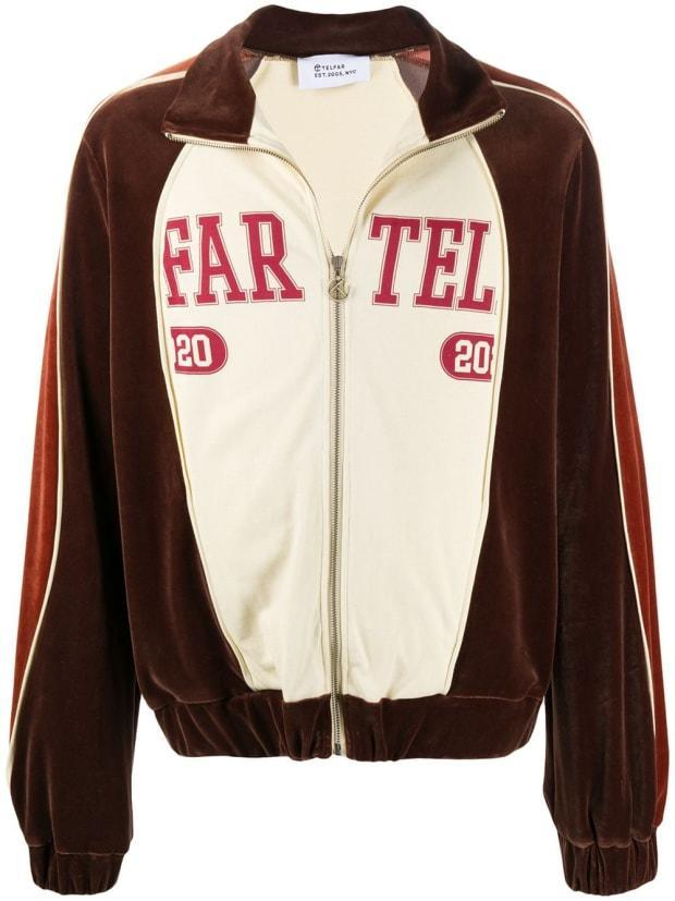 """<p>Telfar Panelled Track Jacket, $551, <a href=""""https://rstyle.me/+CjhPiNSs_bnN5iSuAlu93Q"""" rel=""""nofollow noopener"""" target=""""_blank"""" data-ylk=""""slk:available here"""" class=""""link rapid-noclick-resp"""">available here</a>. </p>"""