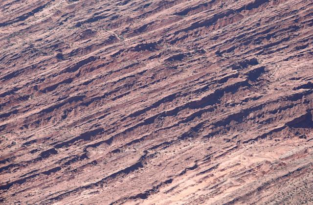 Dakar Rally - 2018 Peru-Bolivia-Argentina Dakar rally - 40th Dakar Edition stage twelve, Chilecito to San Juan- January 18, 2018 - Erosion marks on the stone are seen from a helicopter. Picture taken on January 18, 2018. REUTERS/Andres Stapff