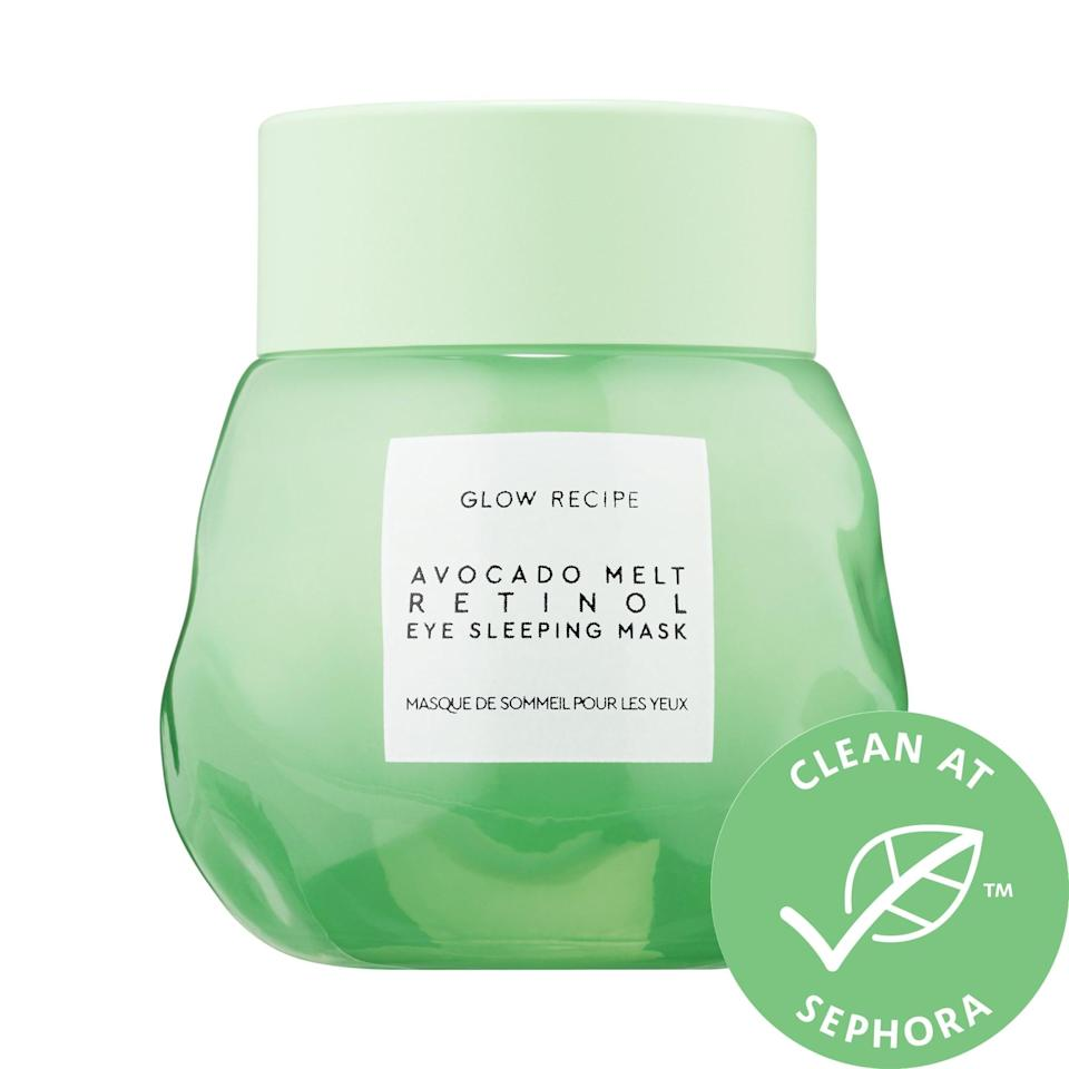 <p>Address dark circles and puffiness overnight with this bestselling <span>Glow Recipe Avocado Melt Retinol Eye Sleeping Mask</span> ($42), featuring a slow-release retinol formula and antioxidant-rich avocado and coffeeberry. Plus, applying this at night means you can go about your day without a heavy eye cream in the hotter months.</p>