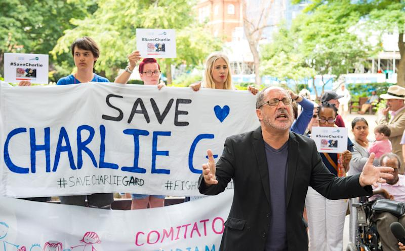 <strong>Protestors calling for more to be done to try to save Charlie Gard's life</strong> (Photo: PA Archive/PA Images)