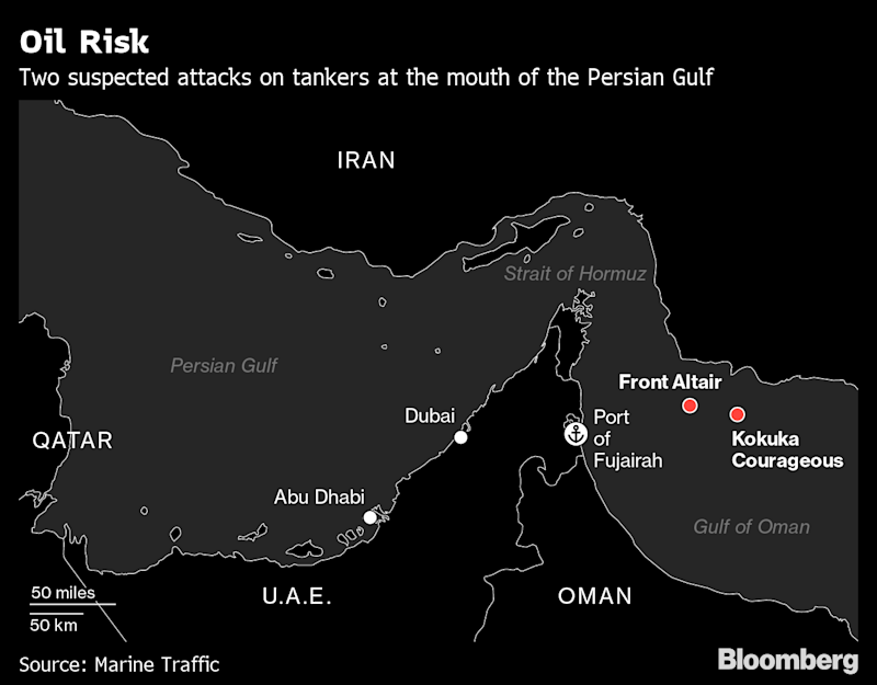 Image result for Gulf on Edge as Conflicting Accounts of Tanker Attacks Swirl