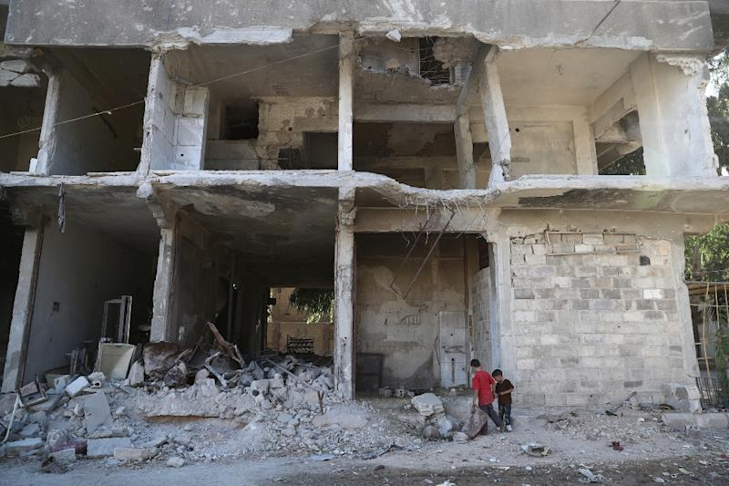 More than 300,000 people have been killed since the start of the Syrian conflict in March 2011 (AFP Photo/Abd Doumany)