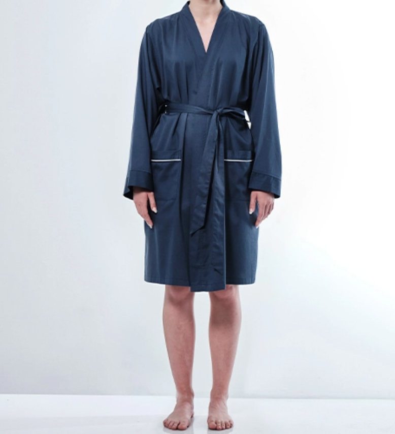 bamboo cotton dressing gown