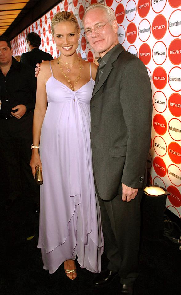"Out and proud Tim Gunn poses with his ""Project Runway"" co-host Heidi Klum at Entertainment Weekly's 4th Annual Pre-Emmy Party. Michael Caulfield/<a href=""http://www.wireimage.com"" target=""new"">WireImage.com</a> - August 26, 2006"